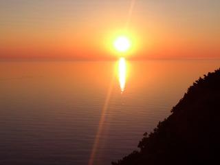 知床の夕陽2
