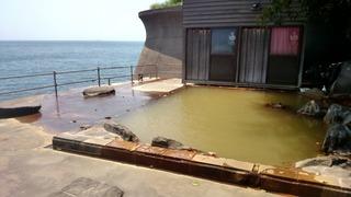 桜島シーサイドホテル混浴露天海辺2