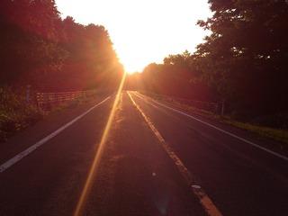 知床の夕陽1