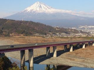 富士山と富士川大橋