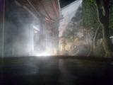 さぎの湯夜の露天1