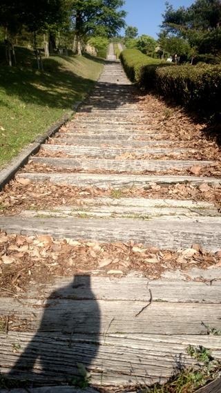 日本一の枕木階段2