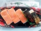 焼き鯖寿司と鱒寿司