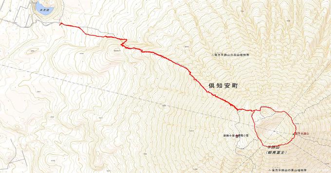 羊蹄山登山のトラックデータ