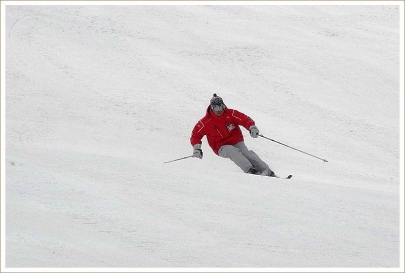 重めの雪は足が疲れます