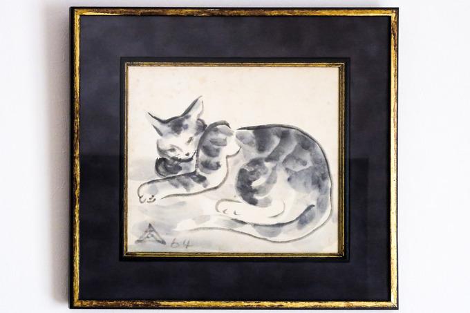 木内克の猫 (墨絵)