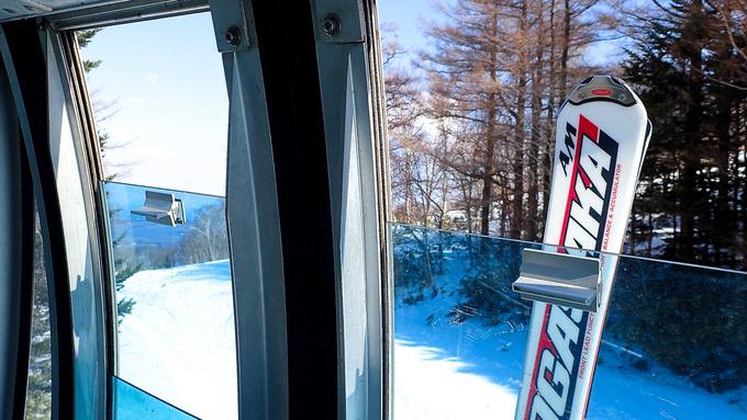 スキー場のネコヤナギの芽も膨らんで