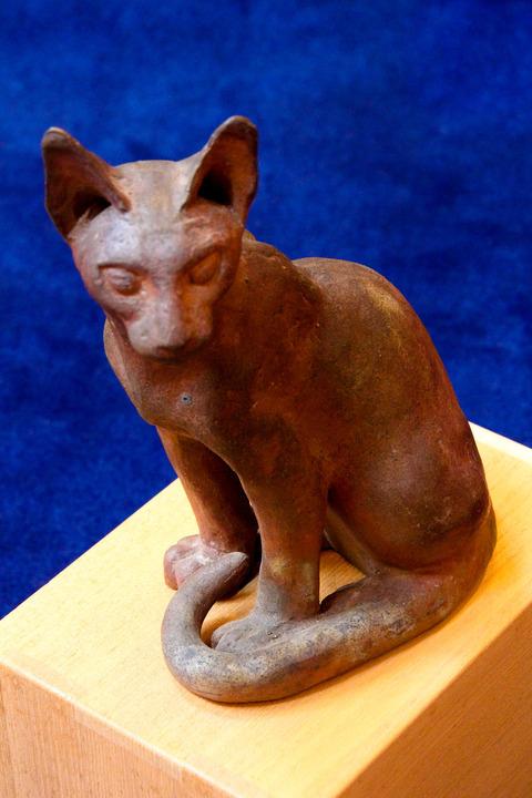 木内克の猫 (テラコッタ④)