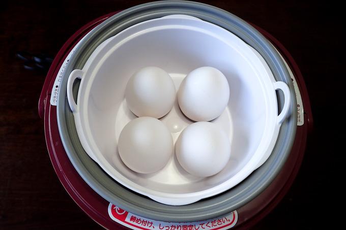 超簡単に温泉卵ができました
