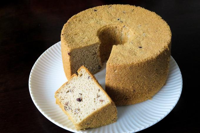 小豆シフォンケーキ