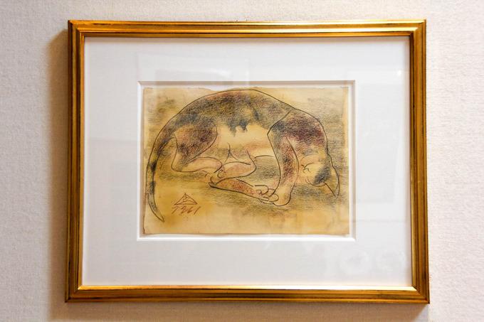 木内克の猫 (水彩・素描)