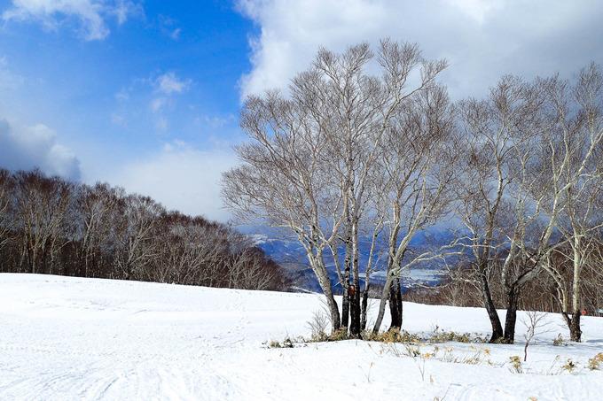 一転して寒くなったスキー場