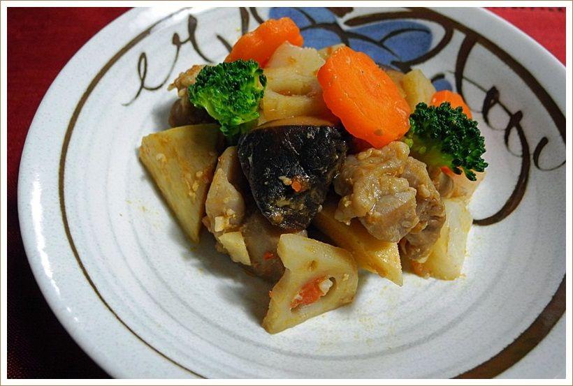たまにやる男の料理 「根菜と鶏肉のラタトゥイユ風」