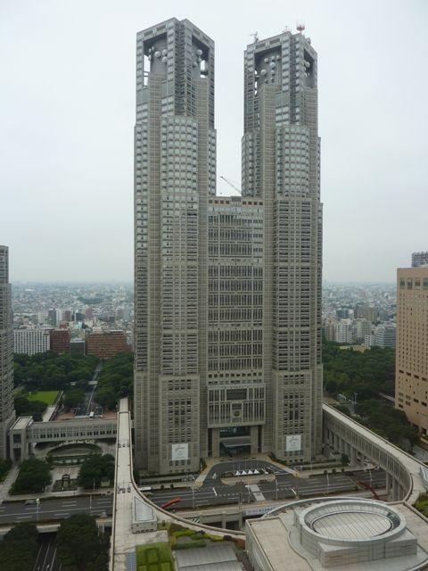 京王プラザから東京都庁を展望