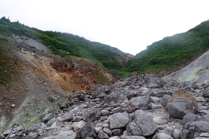 酸ヶ湯から谷地温泉へ縦走登山