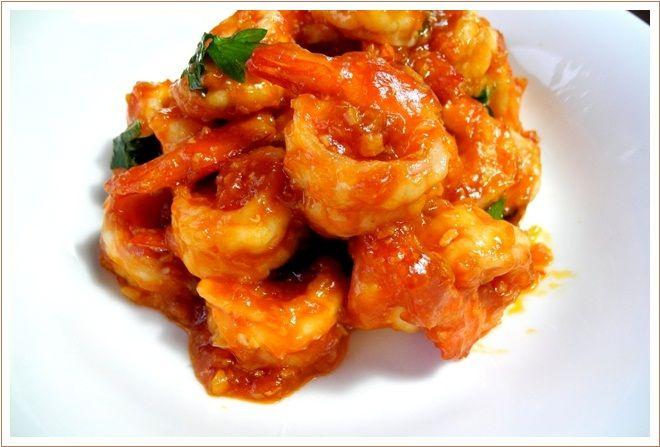 たまにやる男の料理 「エビのチリソース、青椒肉絲、酸辣湯」