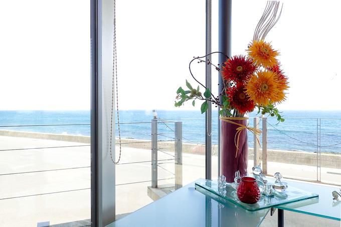 海の見えるレストランでランチ