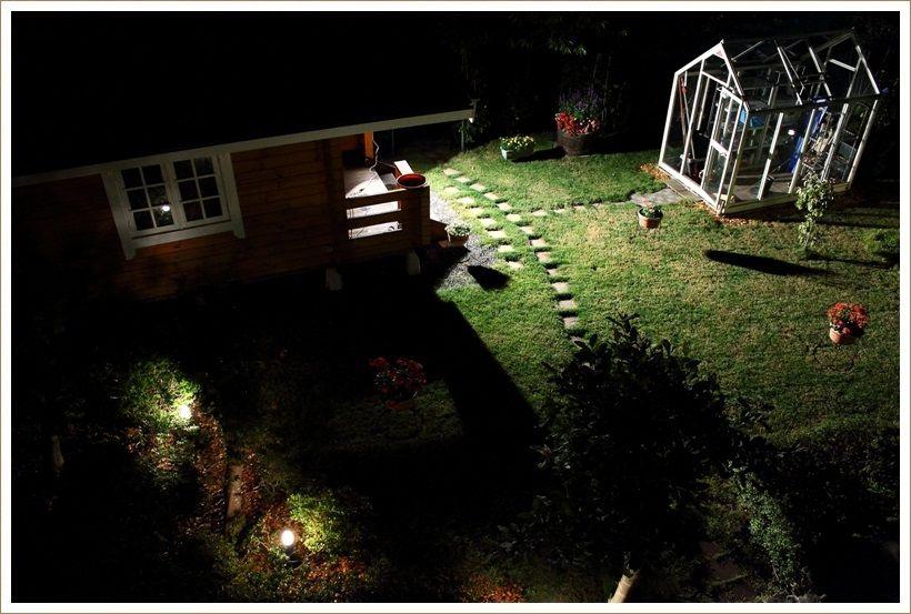 真夏の夜の庭