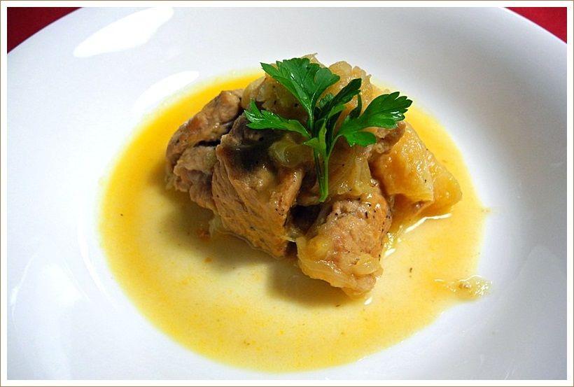 たまにやる男の料理 「豚肉とマルメロの煮込み」