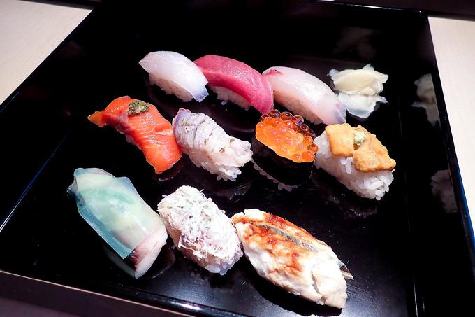 美味しいお鮨を食べて幸せ・・・
