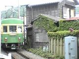 走り去る江ノ電