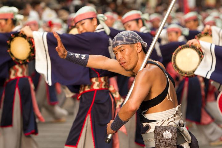 2013.08.10 高知よさこい祭り本番(上總組)
