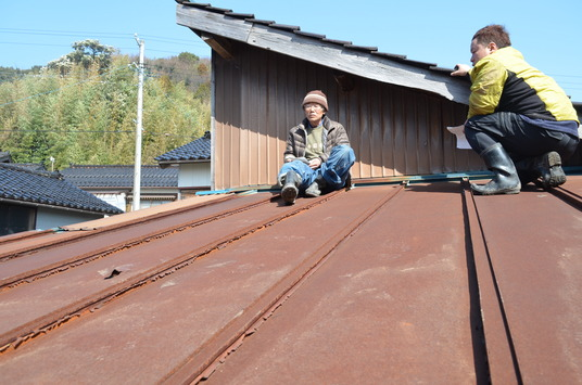 台所天井張り替え (1)
