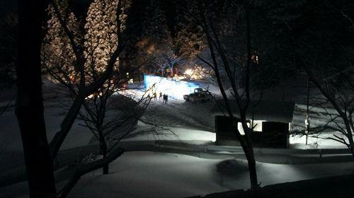 宵祭り当日 雪