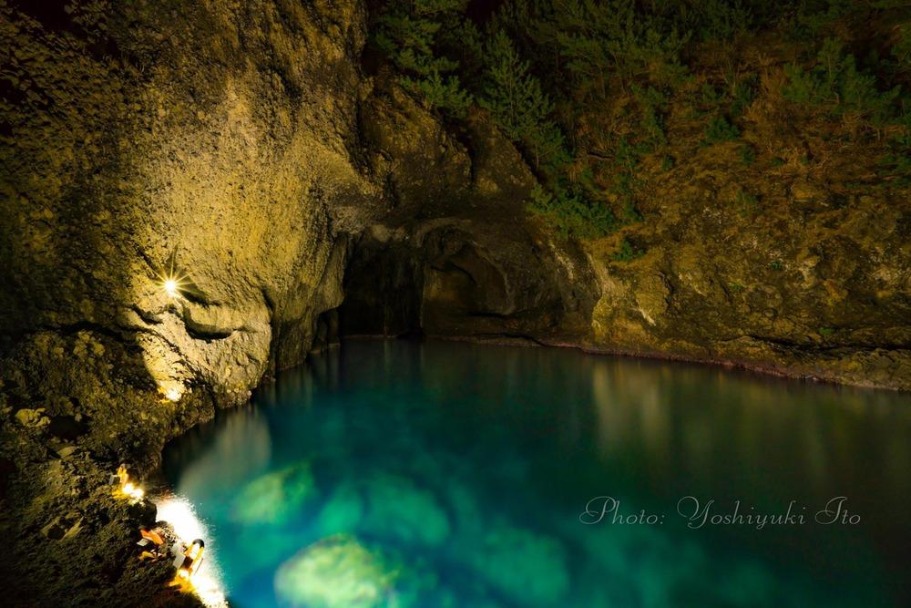 琴浦 竜王洞の青の洞窟