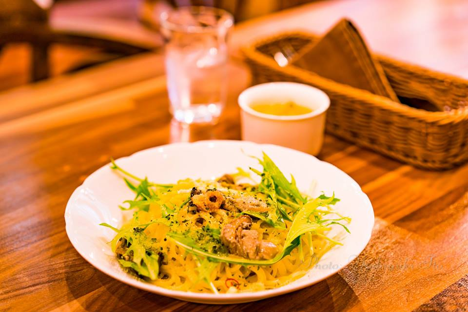 加茂湖牡蠣のパスタ