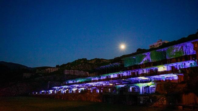 北沢浮遊選鉱場ライトアップ201701
