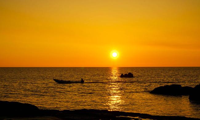 千畳敷からの夕陽3