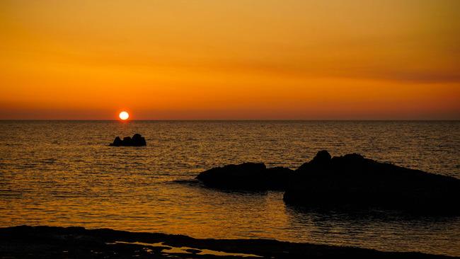 千畳敷からの夕陽1