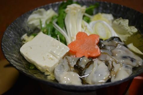 佐渡ニュー桂夕食牡蠣なべ