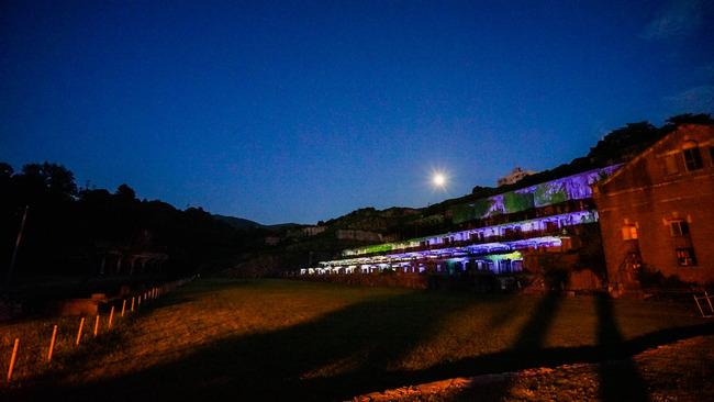 北沢浮遊選鉱場ライトアップ201705