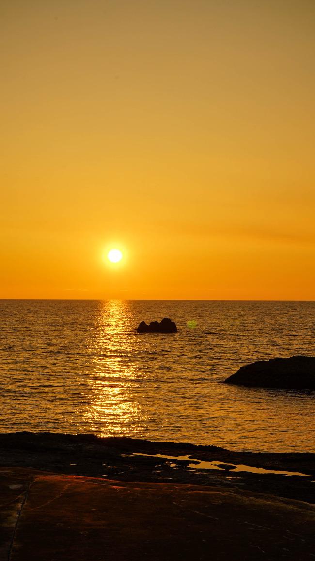 千畳敷夕陽