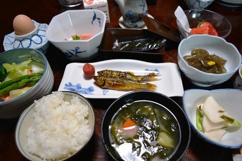 佐渡雅山荘朝食1