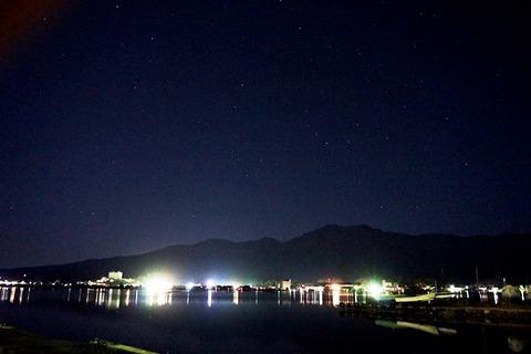 夜の加茂湖1