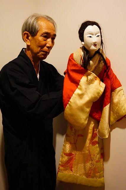 佐渡人形浄瑠璃猿八座主宰西橋八郎兵衛さん
