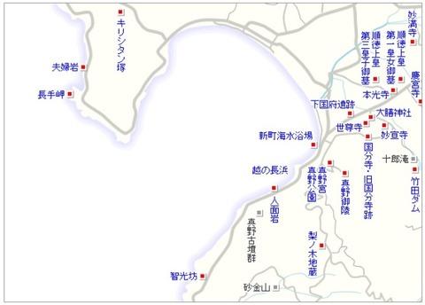 佐渡観光マップ