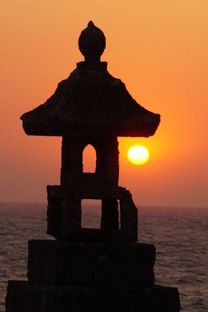 佐渡春日崎夕陽3