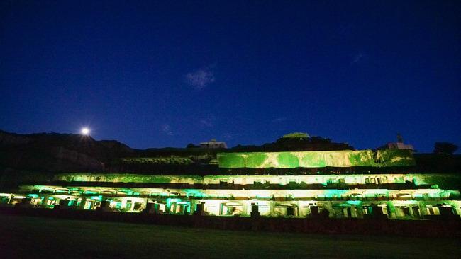 北沢浮遊選鉱場ライトアップ201702