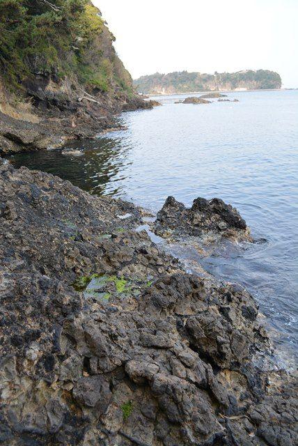 元小木海岸枕状溶岩4
