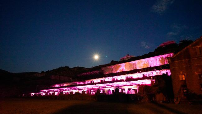 北沢浮遊選鉱場ライトアップ201704