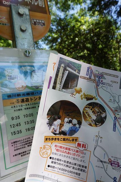 金山ぐるりん相川観光循環バス5道遊トンネル1
