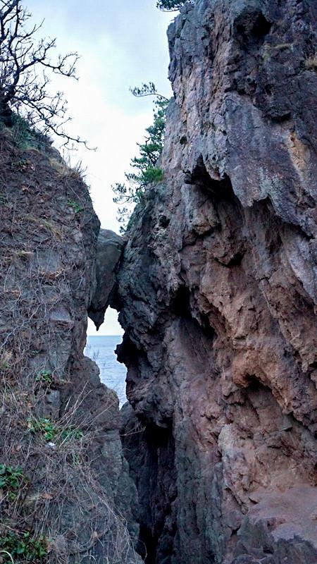 弁慶のはさみ岩2