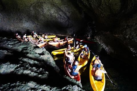 佐渡琴浦青の洞窟シーカヤック4
