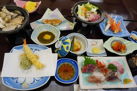 佐渡敷島荘夕食