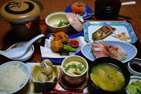 佐渡ニュー桂夕食