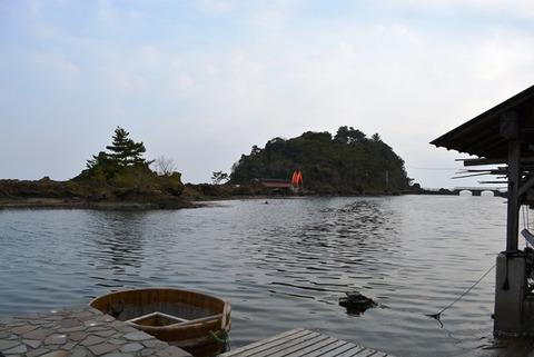小木透視たらい舟矢島経島
